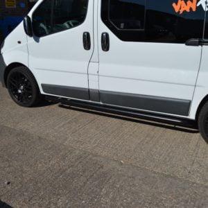 Renault Trafic Sportline Style BLACK Side Bars (LWB L2)