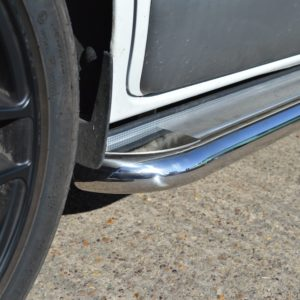 Transit Custom Apollo Stainless Steel Polished Side Steps (LWB L2)