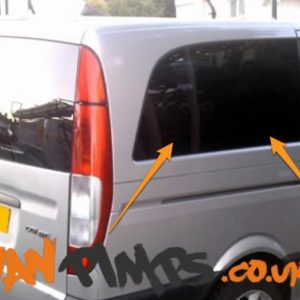 Mercedes Vito 2014> O/S/R Fixed Window in Privacy Tint LWB