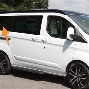 Ford Transit Custom O/S/Rear (LWB L2) (Offside)