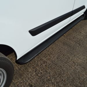 Transit Custom Running Boards / Side Steps - Black Aluminium (LWB L2)
