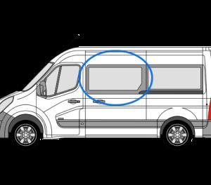 Renault Master 2010> *OPENING WINDOW* N/S/F (MWB,LWB,XLWB) (Nearside)