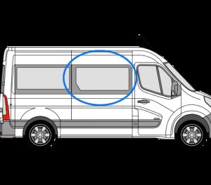 Renault Master 2010> *OPENING WINDOW* O/S/F (MWB,LWB,XLWB) (Offside)