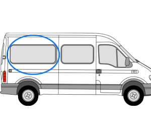 Renault Master 1997 > 2010 O/S/Rear (MWB) (Offside)