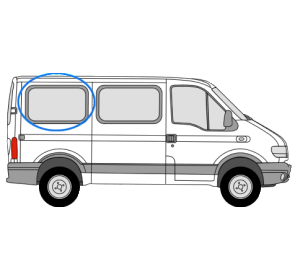Renault Master 1997 > 2010 O/S/R Fixed Window in Privacy Tint (SWB/LWB)
