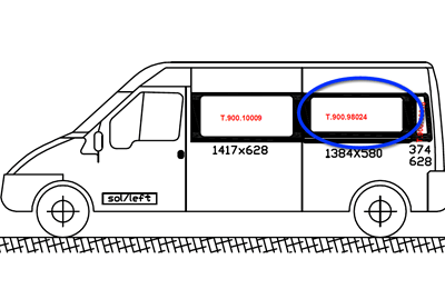 Ford Transit N/S/Middle (LWB) (Nearside)