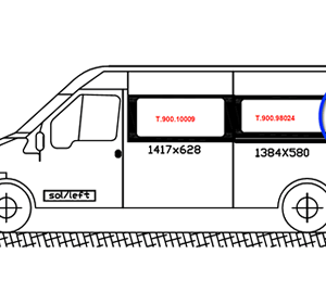 Ford Transit N/S/Rear Quarter (LWB) (Nearside)