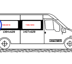 Ford Transit O/S/Rear Quarter (LWB) (Offside)