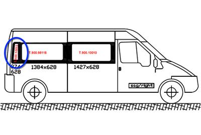 Ford Transit O/S/Rear Quarter (LWB) (Offside)