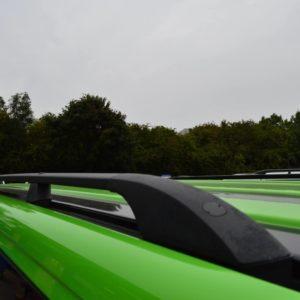 T5 Black Aluminium Roof Rails - LWB