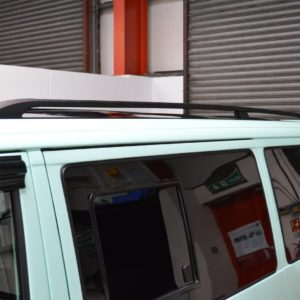 T4 Black Aluminium Roof Rails - LWB