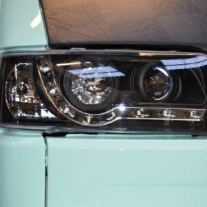 T4 Black LED Headlamps DRL Normal Indicator 9044