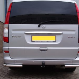 Mercedes Vito Mirror Polished Stainless Steel Rear Corner Bars - XLWB (L3)