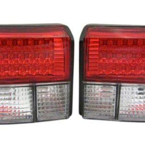 T4 Red And Crystal Clear LED Rear Lights PRL9048