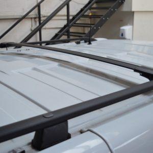 Renault Trafic Black Aluminium Roof Rails SWB