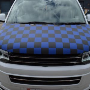 T5.1 Facelift 2010> Blue & Black Chequered Bonnet Bra