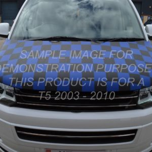 T5 Blue & Black Chequered Bonnet Bra