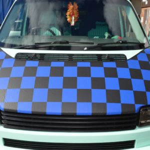 T4 Black & Blue Chequered Bonnet Bra SHORT NOSE