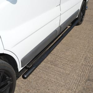 Renault Trafic Matt Black Vulcan Side Steps With Footplates (LWB L2)