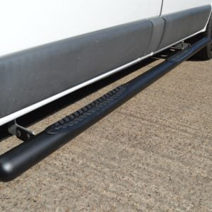 Renault Trafic Matt Black Vulcan Side Steps With Footplates (SWB L1)