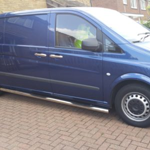 Mercedes Vito Stainless Steel Vulcan Side Steps With Footplates (COMPACT/LWB L1)