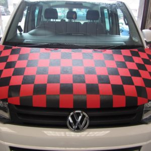 T5.1 Facelift 2010> Red & Black Chequered Bonnet Bra