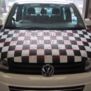 T5 White & Black Chequered Bonnet Bra