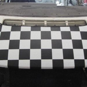 T4 Black & White Chequered Bonnet Bra SHORT NOSE