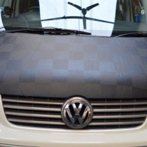 T5 Black & Grey Chequered Bonnet Bra
