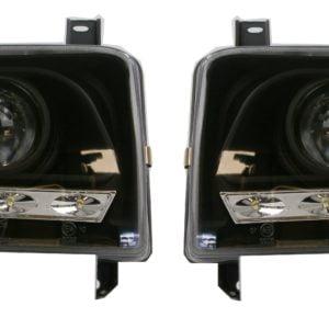 T4 Black LED Headlamps DRL w/LED Indicator PHL9053