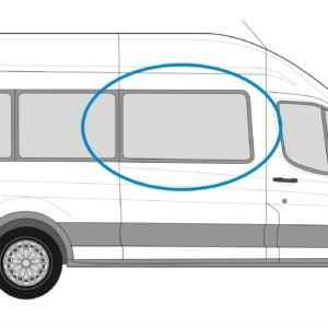 Ford Transit 2013> O/S/F Fixed Window in Privacy Tint (MWB/LWB/XLWB)